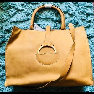 H&M Genuine Leather Mustard Yellow Bag